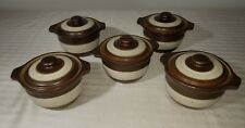 Vintage 5 Denby Langley Russet Covered Crocks Rustic Stoneware ~ SHIPS FREE!