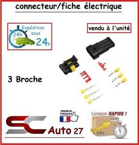 connecteur / fiche électrique étanche pour 3 branchement