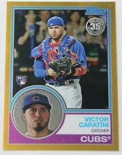 2018 TOPPS CHROME #86 GOLD REFRACTOR VICTOR CARATINI RC #50/50 1983 RETRO 1/1