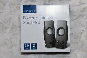 110v AC Powered Desktop Computer Speaker Loud Speakers Insignia NS-PCS219 |rc2