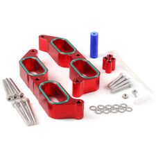 Red Aluminum Car Intake Manifold Spacers For 13-17 Subaru BRZ Scion FR-S