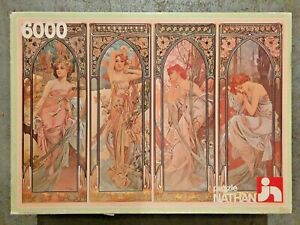6000 piece puzzle, 'The four times of day - Alfons Mucha, 1983 - Very Rare !!