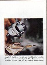 1959 Magazine Photo Langley Spinlite Deluxe Fishing Reels Williams Wobbler Lure
