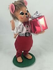 """ANNALEE 8"""" SILVER SPARKLE BOY MOUSE - NEW with TAG - 2013  (4215)"""