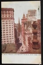 Wall Street and Trinity Church New York City 1907