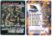 2005 AFL Teamcoach Subway Captain TEAM COACH Wild Card ADELAIDE MARK RICCIUTO