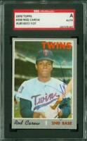 SGC Authentic Original Autograph of Rod Carew HOF of the Twins on a 1970 Topps