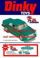 Dinky Toys 113 The Avengers Jaguar Poster Shop Display Sign Advert Leaflet A4