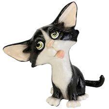 Little Paws Fizz (black & white) Cat Figurine  NEW in Gift Box  25924