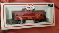TRAIN CAR HO SCALE BOX CAR MODEL POWER ATSF CABOOSE WIDE VISION SANTA FE