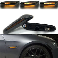 Dynamic Smoke LED Side Marker Turn Signal Lights For BMW E90 E83 E92 E82 E46 E60