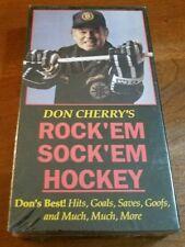 DON CHERRY'S ROCK 'EM SOCK 'EM HOCKEY VOLUME 1 FACTORY SEALED RARE CANADIAN VHS