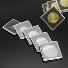 Pack of 10 Square Coin Capsules Quadrum Sizes 40mm Snaplock Holders