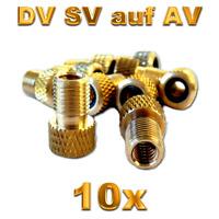 2x Ventil Adapter vom Fahrradventil auf Autoventil Bike Ventile Reduktion DV AV