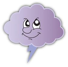 "Cloud Zipper Smile Evil Emotion Cartoon Funny Car Bumper Sticker Decal 5"" x 4"""