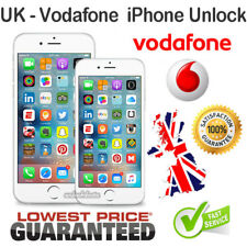 EXPRESS FAST UNLOCK CODE FOR Vodafone UK iPhone 4/4S/5/5S/5C/SE/6/6S/7/8/X +Plus