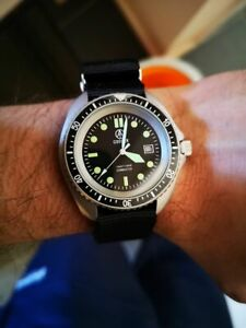 COOPER SUBMASTER STEEL FINISH ROYAL NAVY MILITARY DIVERS WATCH SM8016ST