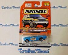 1999 Matchbox #46 Series 10-Drop Tops (blue) '55 CHEVY CONVERTIBLE ~ S5