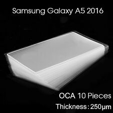 LOT 10x Film OCA Colle UV LCD Ecran Tactile pour Samsung Galaxy A5 (2016) A510F