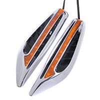 2*Universal Blade LED Car Steering Side Light Fender Indicator Turn Signal Lamp