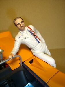 1/18 FIGURE  DENNY HULME  VROOM  UNPAINTED  FOR  EXOTO  SHELBY COLLECTIBLES  GMP