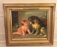 Can't You Speak? 19th Century Lithograph Framed 1879 Publ by Jame Lee of Chicago