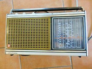 Vintage Grundig Concert Boy Radio 1100, works intermittently.