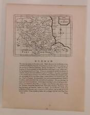 c1780s; Durham, England; Antique Map; John Seller/ Francis Grose