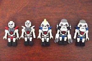 1 x LEGO MINI FIGURE MINIFIG Skeleton Ninjago Krazi Kruncha armour 2507 Like NEW