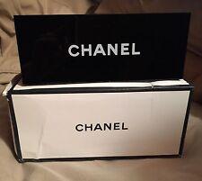 Chanel Makeup Brush Lipstick Tools Vanity Organizer Box Black with Box