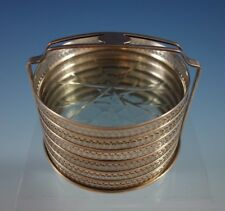 Webster Sterling Silver Coaster Set of 6 with Cut Crystal  in Caddy  (#2376)