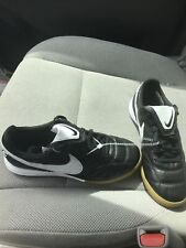 Nike Premier Ii 2 Ic Indoor Soccer Shoes Mens 6.5 Black White Ao9376-010