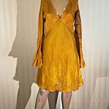 Little Birdy Studios - Handmade 100% Silk Slip On Summer Blouse / Shirt Dress M!