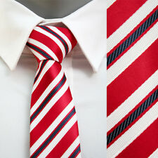 VoiVoila New Men's  Skinny Slim Narrow Diagonal Stripes Jacquard Woven Neckties