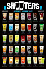Shooters poster Best Shots Drinks Measurements Ingredients Drunk Liquor 24x36!!!