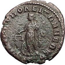 ELAGABALUS 218AD Philippopolis Thrace NEMESIS Genuine Ancient Roman Coin i59515