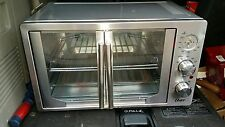 Oster French Door Large Capacity Countertop Stainless Steel Oven with Convection