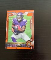 2015 Topps Chrome Stefon Diggs Orange Refractor Rookie Card #148