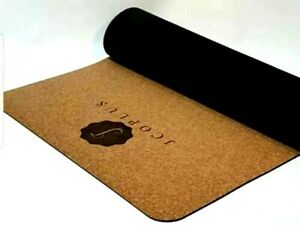 JCoplus Non-Slip Cork Premium Yoga Mat Exercise with Natural Bottom
