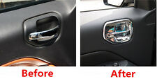 ABS Chrome Interior Door Handle Bowl Cover Trim 4pcs for JEEP COMPASS 2011-2015