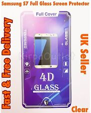 Full Cover Tempered Glass Screen Protector For Samsung Galaxy S7 Clear