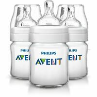 Philips Avent 3 X 125ml Triple pack 4oz Bottle Baby anti colic Classic Plus+