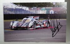 PHOTO cm11.5x18 SIGNED by Marc Gene AUDI R18 ULTRA #3 TEAM JOEST LE MANS 2012