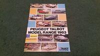 1983 PEUGEOT TALBOT RANGE 104 305 505 604 SAMBA HORIZON ALPINE RANCHO BROCHURE