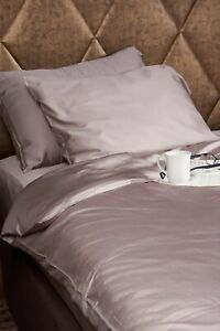 Bamboo king size bed linen set. 100% bamboo. Taupe. Antibacterial.