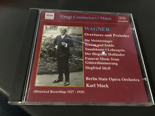 CD Karl Muck - Wagner: Overtures & Preludes (SCATOLA 33)