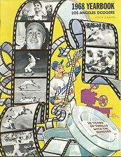 1968 Dodgers Team Yearbook Magazine Sutton Vin Scully Don Drysdale Willie Davis