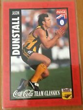 1995 AFL SELECT HAWTHORN HAWKS JASON DUNSTALL COCA COLA #10 CARD