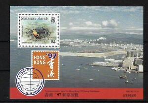 BR SOLOMON IS MS874, HONG KONG '97 MINI SHEET MNH