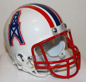 Earl Campbell Houston Oilers Riddell Custom Mini Helmet with Metal Face Mask
